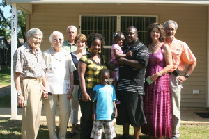 The Blair Family with Habitat supporters at Home Dedication